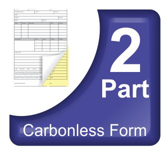 2 Part Carbonless NCR Forms Printing