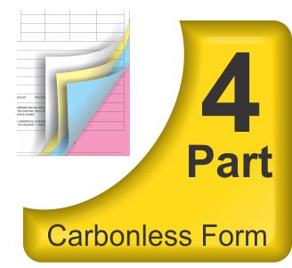 4 Part Carbonless NCR Forms Printing