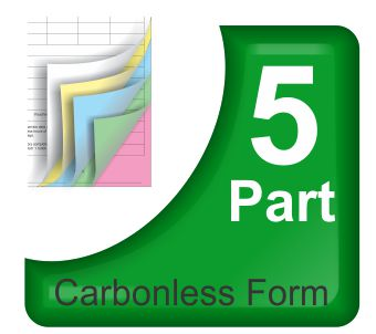 5 Part Carbonless NCR Forms Printing
