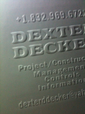 Blind Embossed Business Cards Printing