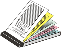 Carbonless Books with Perforation and Serial Numbering