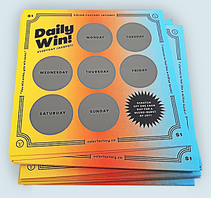 Custom Scratch Off Cards Printing