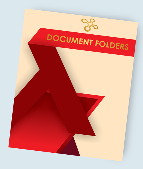 Foil Stamping on Document Folders