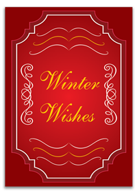 Personalized Winter Wished Cards Printing