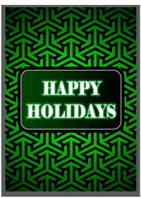 Custom Happy Holidays Cards Printing