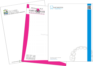 Full color letterheads printing
