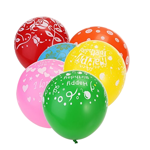 Custom Printed Balloons with various colors options