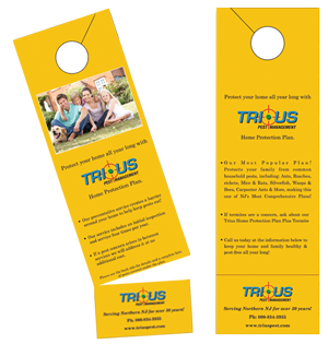 Custom Tear Off Door Hangers Printing