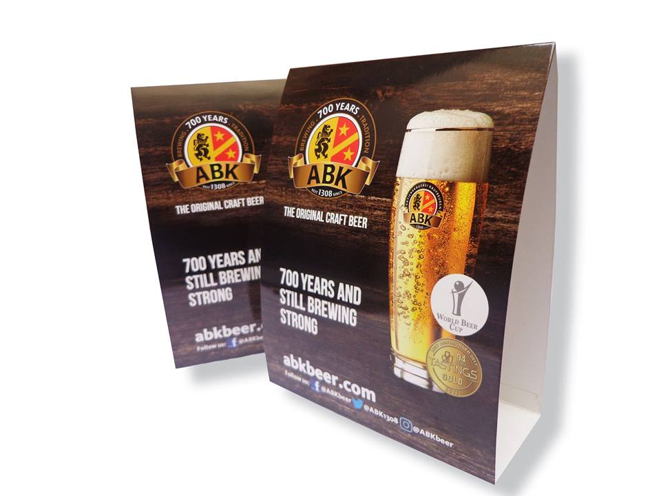 Table Tents Designing & Printing Services