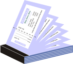 Ticket Books Printing with perforation and serial numbering