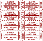 Perforated Ticket Sheets Printing