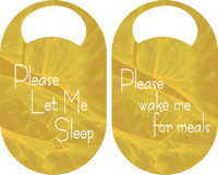 Please let me sleep door hangers printing