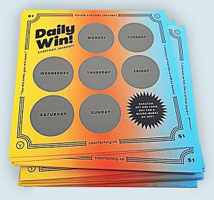 Custom Scratch Off Cards Printing