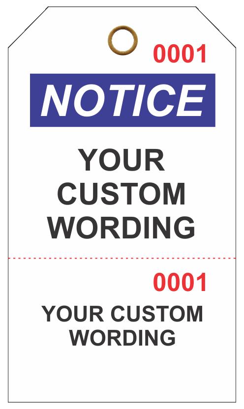Custom Printing of Perforated Repair Cards