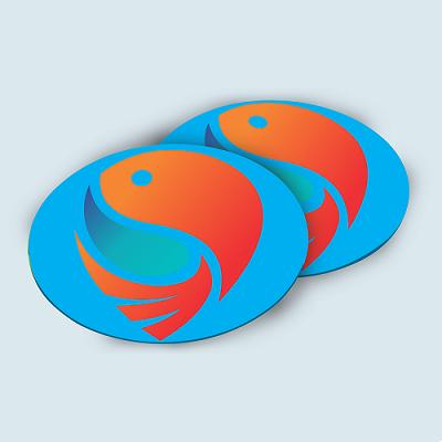 Custom Printed Plastic Coasters