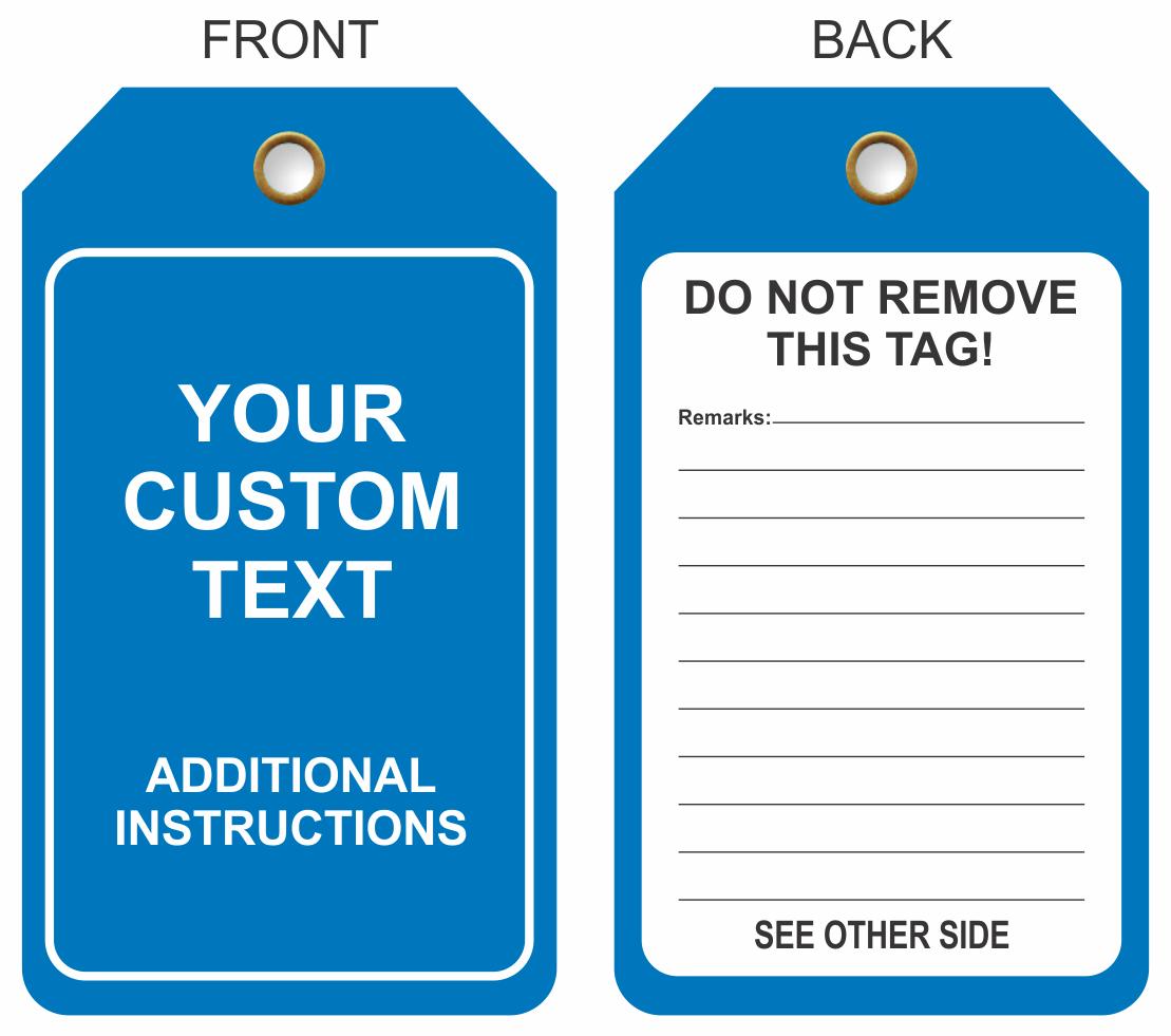Custom Printed Plastic Tags