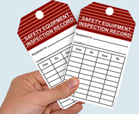Custom Printing Safety Inspection Cards
