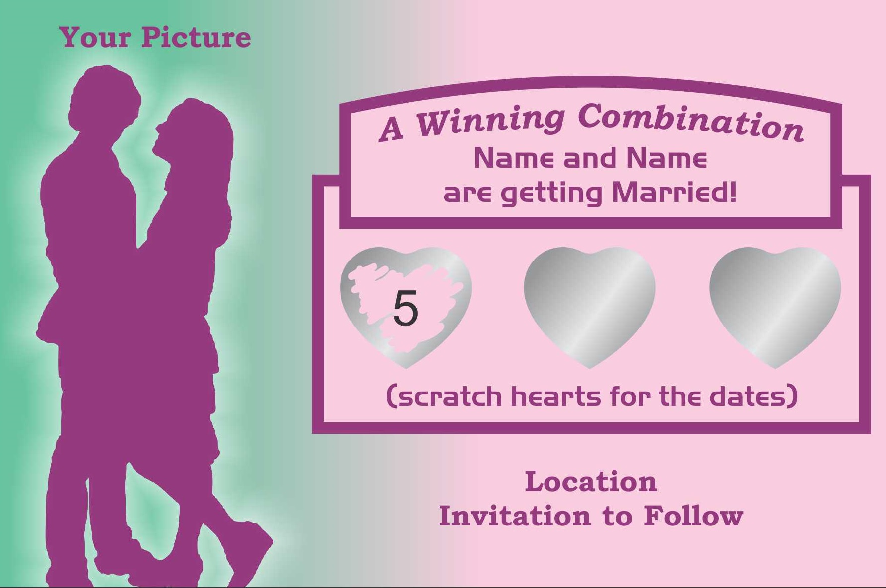 Save the Date scratch off cards