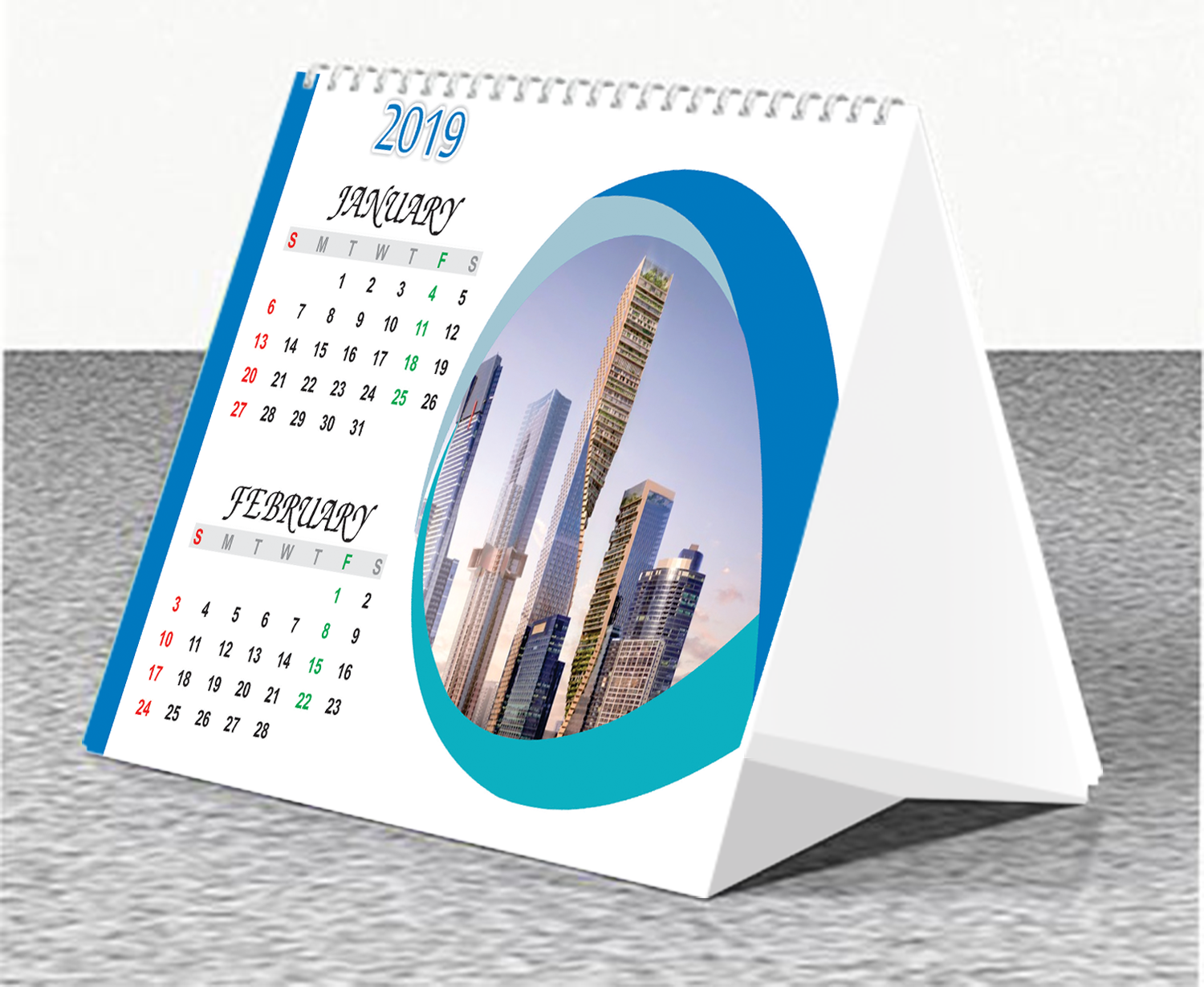 Custom Table Calenders Printing