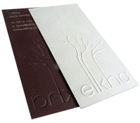 Fancy Embossed Business Cards Printing