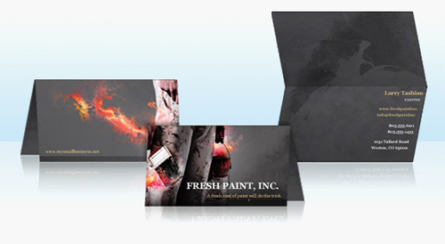 Inexpensive Folded Business Cards Printing